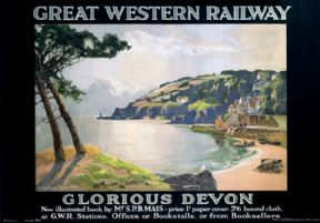 Glorious Devon. GWR Vintage Travel Poster by L Burleigh Bruhl